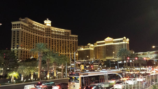 The Bellagio as Seen from the Strip