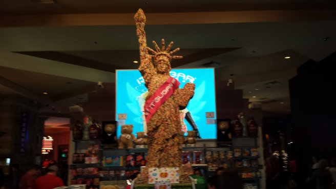 New York New York Vegas Lady Liberty Made of Jelly Beans