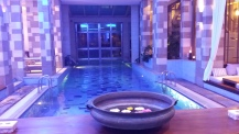 The spa with indoor heated pool
