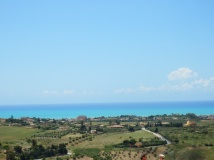 The sea was 2 distinct shades of blue - can't beat this view!