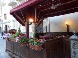 Charming streetside cafe