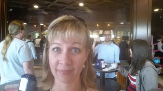 Co-worker photo bomb