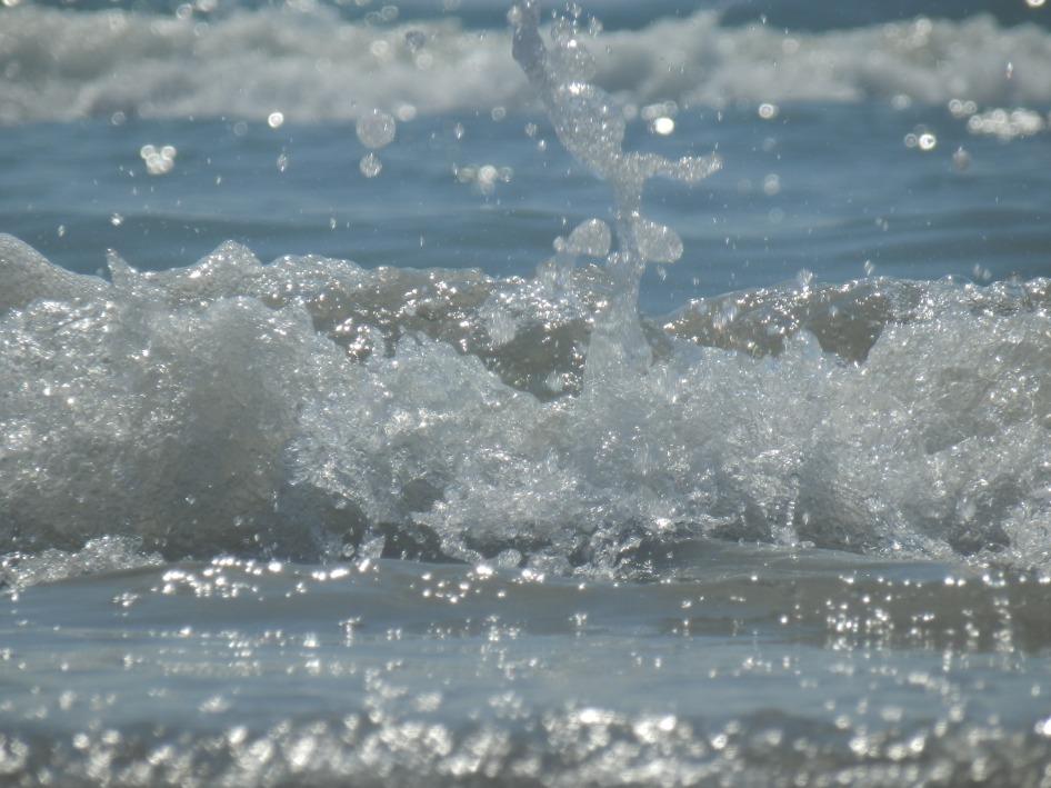 Beach wave at Cocoa Beach, FL
