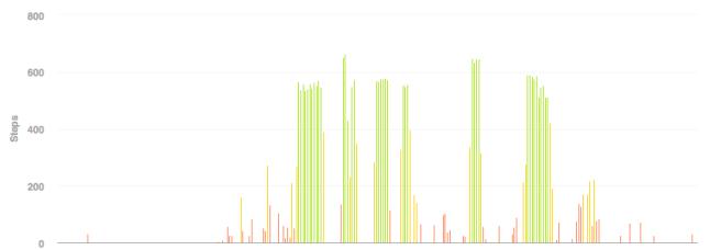 fitbit graph