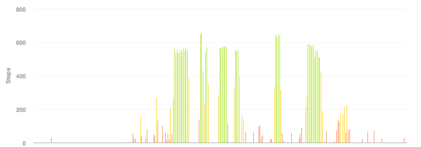 fitbit graph