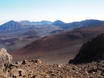 To us, it looked more like a Martian landscape than an earthly one.