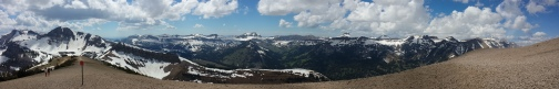 An awesome view as far as the panoramic lens can see.