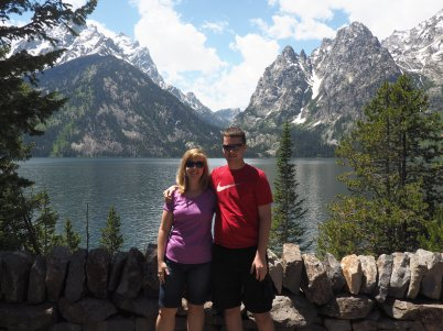Me and my boy at the lake
