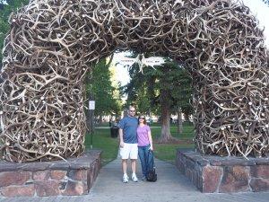 Elk horn arches in Jackson