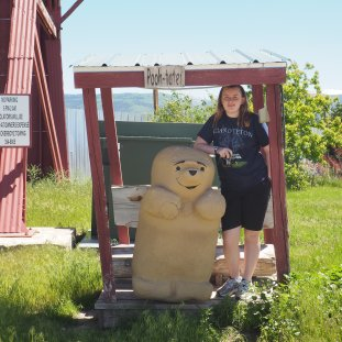 My lil Peanut with the (world's only?) Pooh-tater