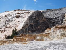 Devil's Thumb at Mammoth Hot Springs