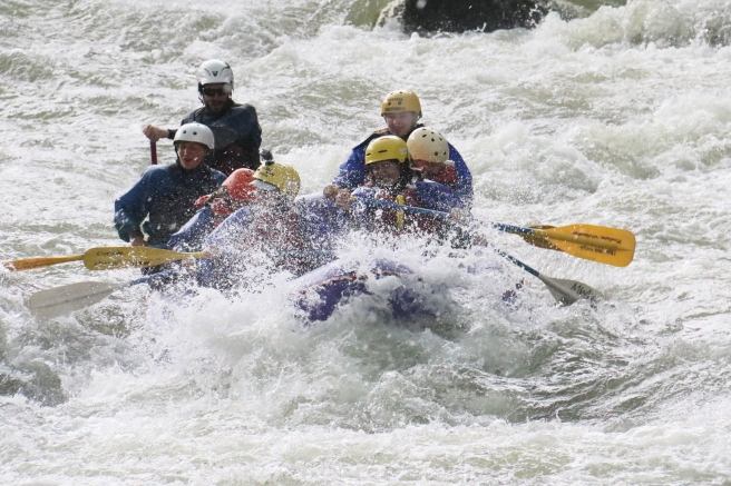 Rafting fun, before the hailstorm hit.