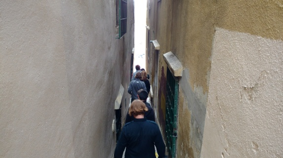 Almost had to walk sideways to get down this alley