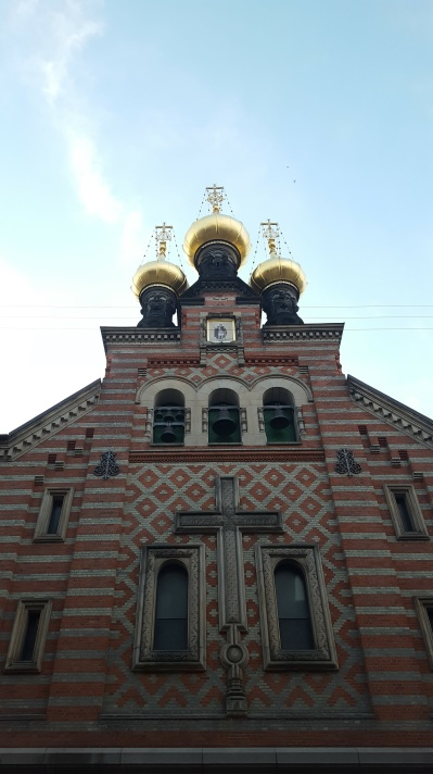 Onion domes on a church
