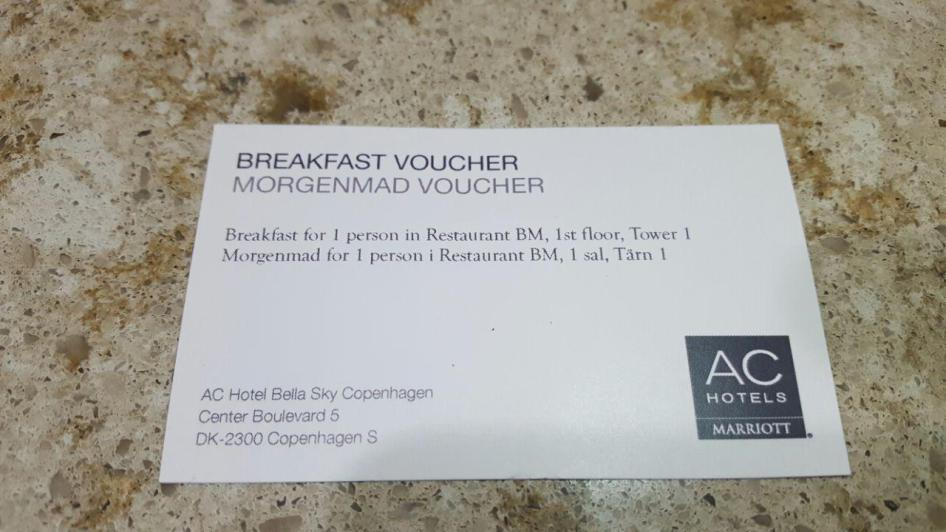 Bella Sky Breakfast voucher