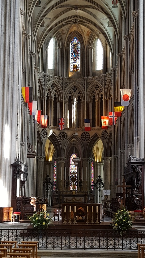 Notre-Dame Cathedral Bayeax altar flags