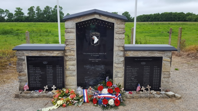 Screaming Eagles Easy Company monument Carentan Normandy France