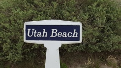 Utah Beach sign Normandy France