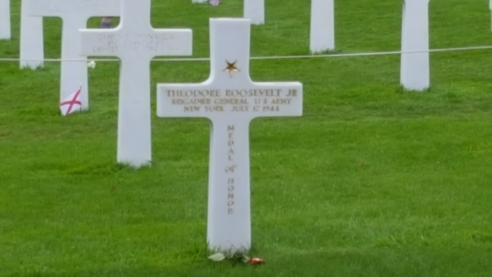 Theodore Roosevelt Jr's grave American cemetery Normandy France