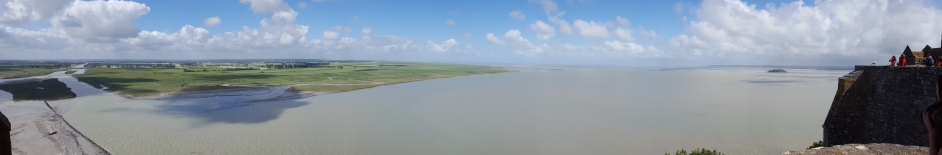 View from the top of Mont St. Michel