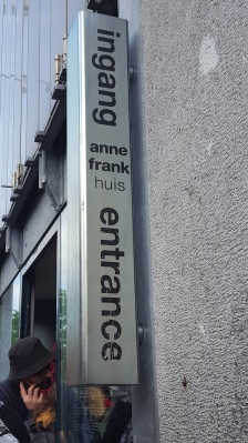 ingang entrance anne frank house