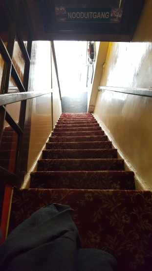 Upstairs Pannenkoeken stairs Amsterdam