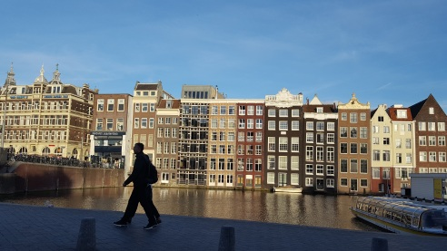 Amsterdam ow buildings on a canal