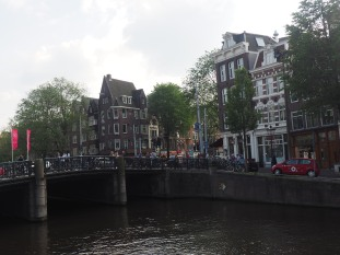 Amsterdam bridge over canal