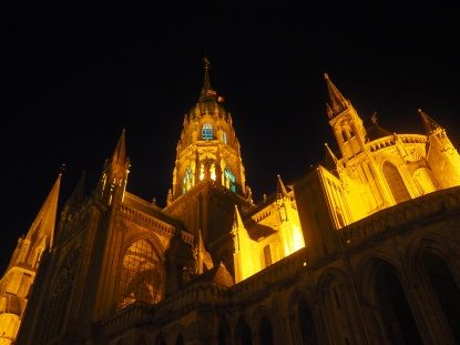 Notre-Dame Cathedral Bayeax night