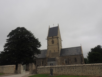 Angoville-au-Plain Church Robert Wright and Kenneth Moore Normandy France