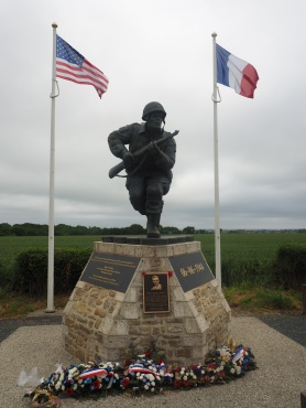 Military monument Richard Winters St Marie Du Mont France