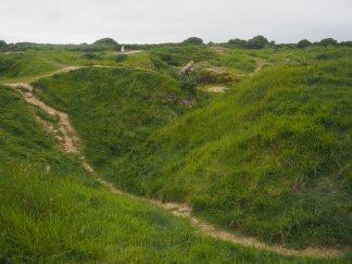Point du Hoc crater Normandy France