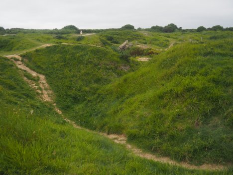 Point du Hoc crater Normandy France