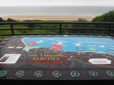 Mosaic depicting the landing overlooking Omaha beach American Cemetery Normandy France