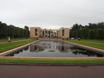 Reflection pool American Cemetery Normandy France