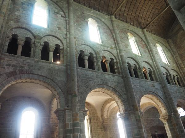 Mont St Michel Roman architecture