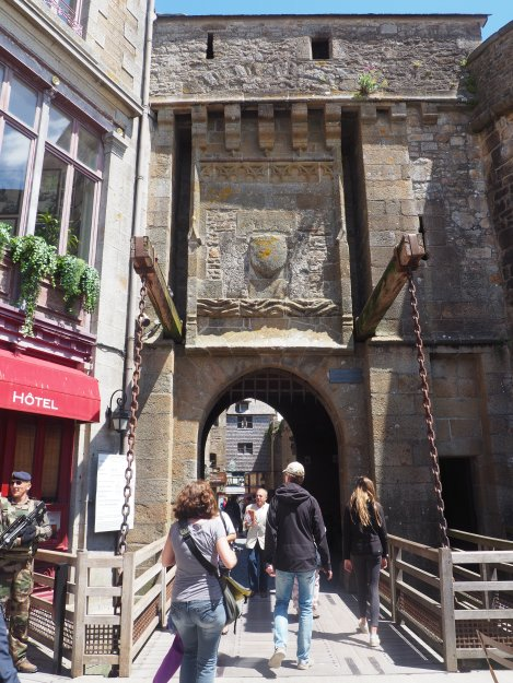 Mont St Michel drawbridge
