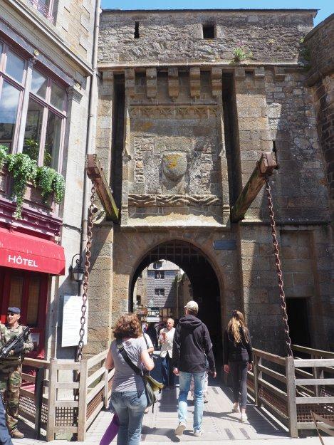 Mont St Michel drawbridge
