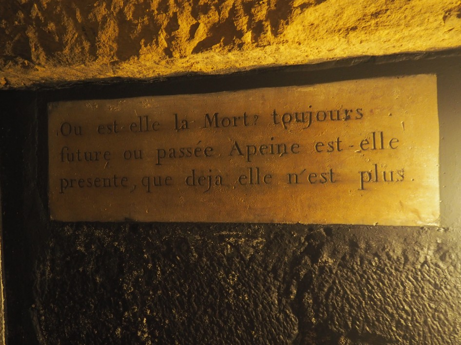 Paris Catacombs sign