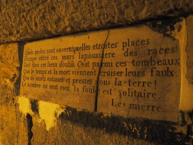 Paris Catacombs sign
