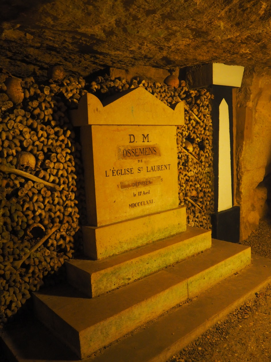 Paris Catacombs tombstone